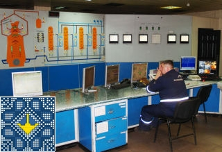 Metallurgical plant ArcelorMittal tour - control room of open hearth furnace