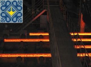 Metallurgical plant ArcelorMittal tour - cut steel bars