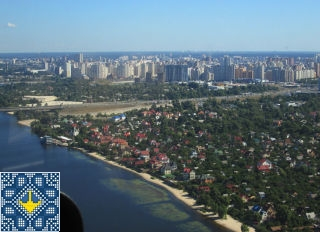 Kiev Helicopter Tour Pictures - Left bank of Dnieper River, Osokorky, Darnytsia raion, Kiev