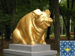 Romny Sights | Monument to Golden Pig